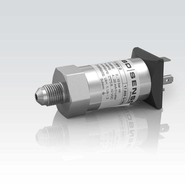 نمونهای از ترانسمیتر فشار قلمی، برند بیدی سنسورز
