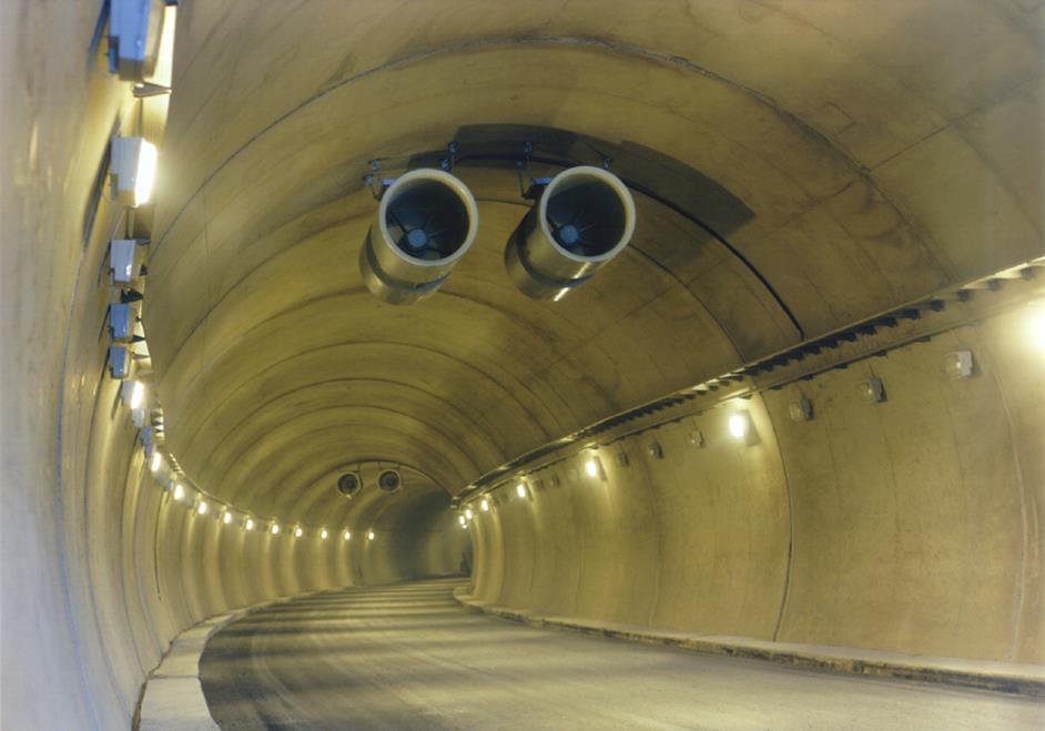 جت فن (Jet fan) در تونل ترافیکی شهری